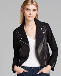 womens leather motorcycle jacket mackage jacket minella leather in black lyst