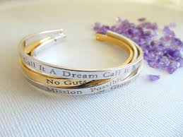 personalized bangle personalized bracelet 16k gold bangle custom text layered cuff