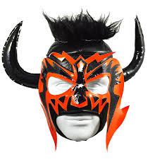 Bull Halloween Costume Bull Horn Lucha Libre Wrestling Mask Size Brand