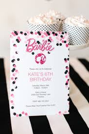 barbie birthday party with free printable barbie designs free