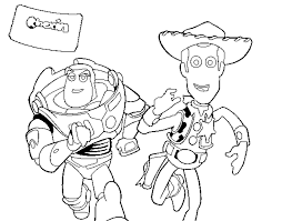 coloring page buzz and woody color online coloringcrew 544163