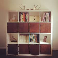 Using 2 Ikea Expedit Bookcases by Modern Reading Room With Gorgeous Ikea Bookshelf Accessories