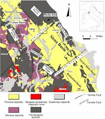 Map Of Siena Italy by Geological Map Of The Pliocene Succession Of The Northern Siena