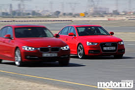 bmw 3 vs audi a4 test bmw 335i vs audi a4 3 0 tfsi motoring middle east