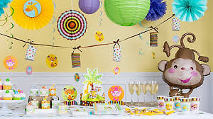 Balloon Decoration For Baby Shower Jungle Theme Baby Shower Balloon Decorations Idea Party City