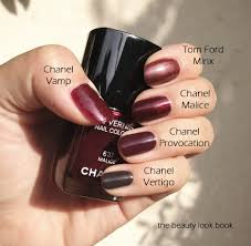 dark vampy nails fall winter 2012 the beauty look book