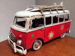 volkswagen van hippie vw kombi combi van beach hippie model ornament home of
