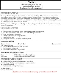 Security Guard Resume Objective Security Guard Resume Cover Letter Sample Job And Resume Template