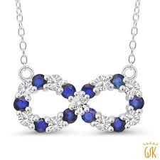 blue diamond necklace gem images Infinity necklaces gem stone king jpg