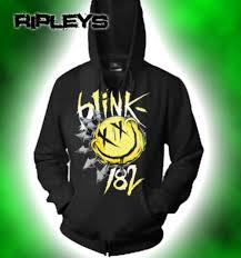 Blink 182 Halloween Shirt by Official Blink 182 Hoody Hoodie Logo Big Smile Smiley M