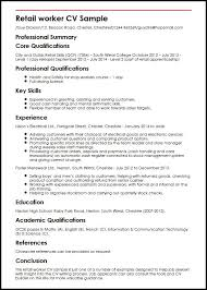 cv template retail manager