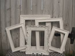 distressed vintage style picture frames ornate square set of