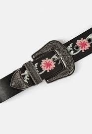floral belt black floral western belt missguided