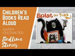 splat the cat says thank you book read aloud thanksgiving books