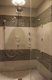 mosaic tiles in bathrooms ideas master bathroom ideas vertical marble tiles with dual deco band