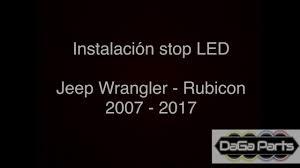 jeep wrangler rubicon logo instalación stop led jeep wrangler rubicon 2007 2017 youtube