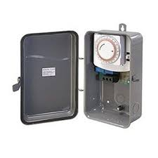 Woods Plug In Timers Dimmers by Woods 24 Hour Outdoor Mechanical Heavy Duty Timer 2 Outlet Black