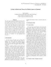 a study of electronic money for online games in thailand pdf