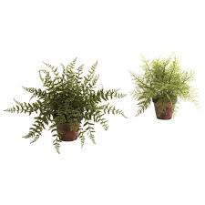 12 inch artificial fern in decorative planter set of 2 4826 s2