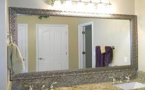 bathroom mirror trim ideas bathroom cabinets building a frame around a mirror bathroom