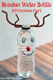 reindeer water bottle u2013 easy diy christmas craft