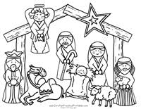 Nativity Printable Play Set Free Printable Nativity Coloring Pages