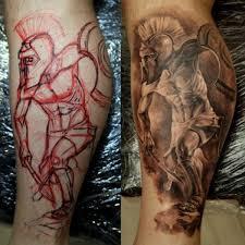 pretty thigh tattoo 4 warrior thigh tattoo on tattoochief com
