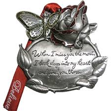 memorial pewter finish orna ents
