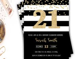 21st birthday invite etsy