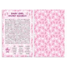baby shower game pink word search set of 20 u2013 distinctivs