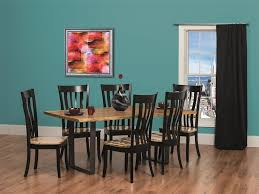 Urban Dining Room Table - live edge rustic and urban dining table with steel u base from