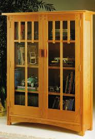 bookshelf glass doors mission style bookcase with glass doors