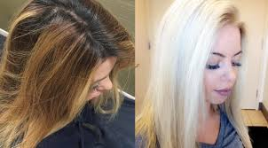 black hair to blonde hair transformations dark to light in one day cole s salon