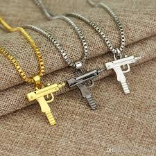 charm necklace chain silver images Wholesale charm necklaces mens hip hop jewelry gangsta pendant jpg