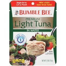 bumble bee chunk light tuna bumble bee premium light tuna in water pouch bumble bee tuna and