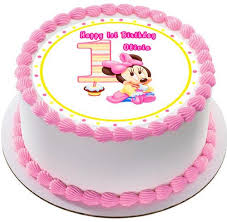 1st birthday cake baby minnie mouse 1st birthday edible cake topper cupcake toppers