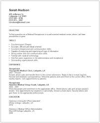 teacher resume professional skills receptionist receptionist objective for resume