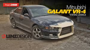 mitsubishi galant vr4 mitsubishi galant 8 tuning body kit lenzdesign performance
