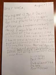 here u0027s what a 9 year old u0027s cover letter to nasa says times of india