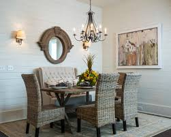 Decorating Traditional Dining Room With Slid Wood Dining Table - Dining table with rattan chairs