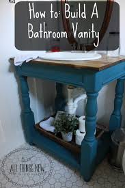 how to build an open farmhouse style bathroom vanity with butcher