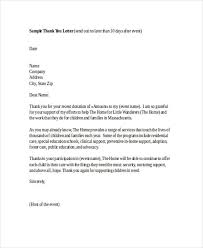 thank you letter for donations thank you note software for