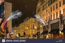 london bond street christmas decorations stock photos u0026 london