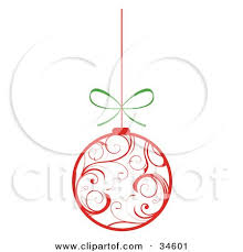 clipart illustration of a white ornament with swirl