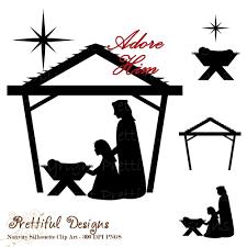 nativity clipart silhouette clipartxtras