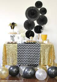 New Year Decorations Table by New Years Eve Golden Glam Dinner Party Food Celebrations And