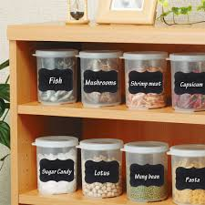 36pcs set black stickers labels kitchen jar organizer handwritten