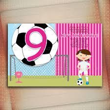 soccer birthday invitations