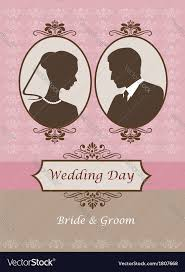 wedding card vintage wedding card invitation royalty free vector image