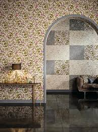 wallpaper versace home floral white beige glitter 34326 1